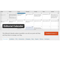 Review Editorial Calander Plugin