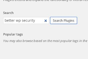 Search for 'Better WP Security' and install the plugin
