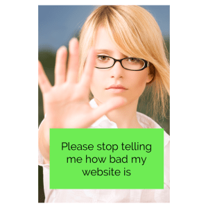 Please stop telling me how bad my