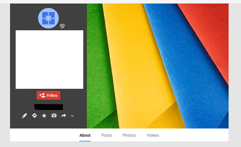 Google+ unupdated listing